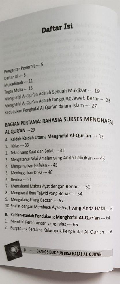 Orang Sibuk Pun Bisa Hafal Al Qur'an - Daftar Isi 1