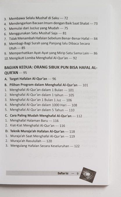 Orang Sibuk Pun Bisa Hafal Al Qur'an - Daftar Isi 2