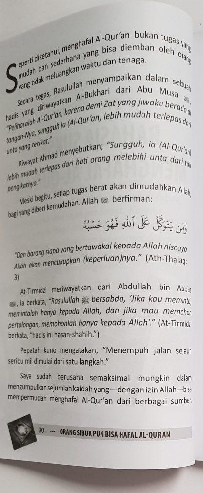 Orang Sibuk Pun Bisa Hafal Al Qur'an - Isi 1