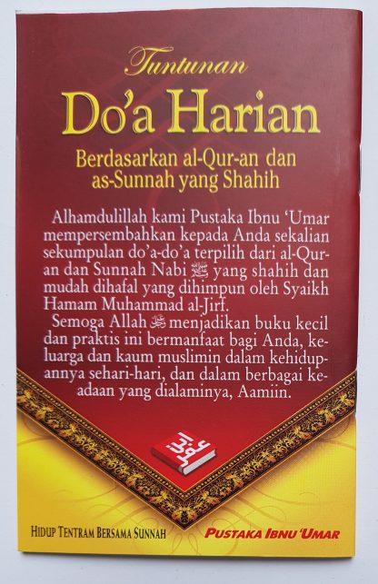 Tuntunan Do'a Harian Berdasarkan Al Qur'an dan As Sunnah yang Shahih - Belakang