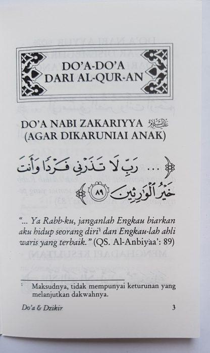 Tuntunan Do'a Harian Berdasarkan Al Qur'an dan As Sunnah yang Shahih - Isi 1