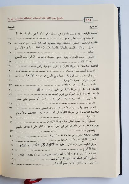 At Ta'liq 'alal Qawa'idil Hisan - Daftar Isi 1