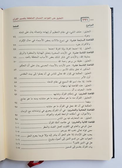 At Ta'liq 'alal Qawa'idil Hisan - Daftar Isi 2