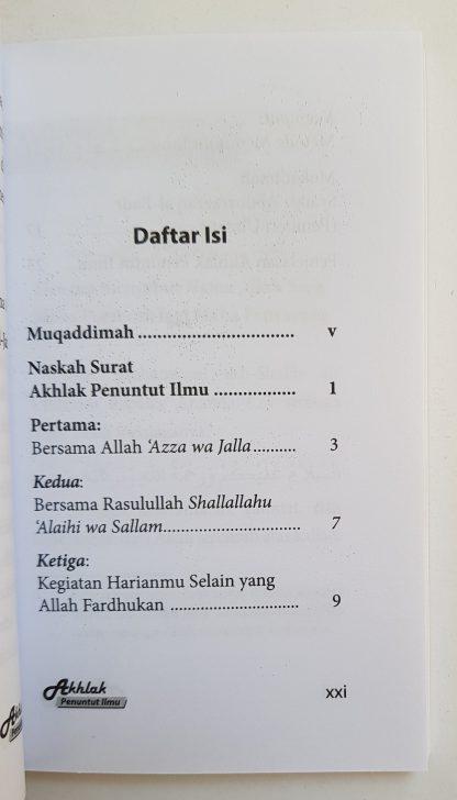 Akhlak Penuntut Ilmu - Daftar Isi