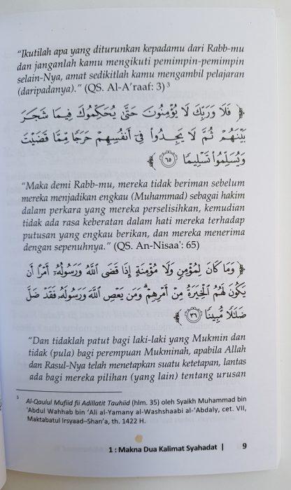 Konsekuensi Cinta Kepada Nabi Muhammad - Isi 2