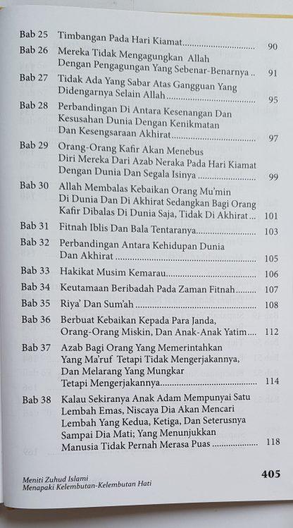Kitab Zuhud & Riqaaq - Daftar Isi 2