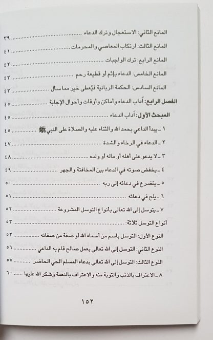 Syruthud Du'a Wa Mawani'ul Ijabah Fi Dhau'il Kitab Was Sunnah - Daftar Isi 1